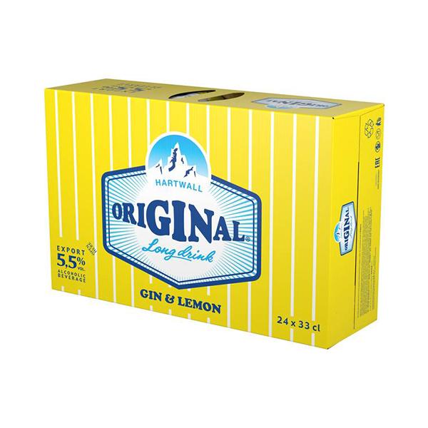 Hartwall Original Long Drink Lemon 24x33cl 5,5%